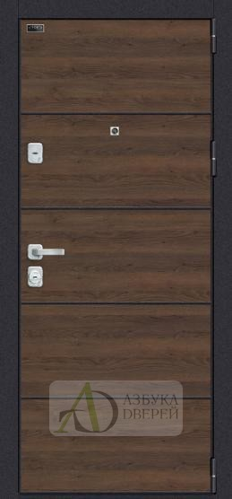 Металлическая дверь Porta M П50.Л22 Tobacco Greatwood/Nordic Oak