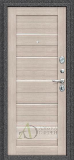 Металлическая дверь Porta S 104.П22 Cappuccino Veralinga/White Pearl