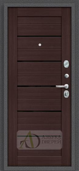 Металлическая дверь Porta S 104.П22 Wenge Veralinga/Black Star