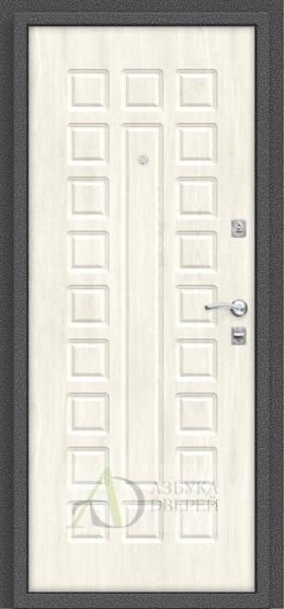 Металлическая дверь Реновация Антик Серебро/Nordic Oak