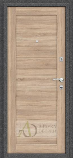 Металлическая дверь Репутация Антик Серебро/Light Sonoma