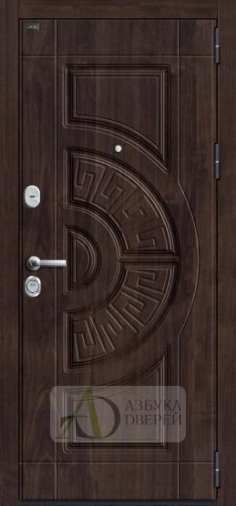 Входная дверь GROFF Р3-312 П-28 Темная Вишня/П-25 Беленый Дуб
