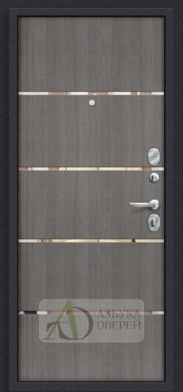 Стальная дверь Оптим Лайн (66мм) Grey Crosscut
