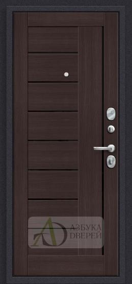 Стальная дверь Оптим Модерн П-28 Темная Вишня/Wenge Veralinga
