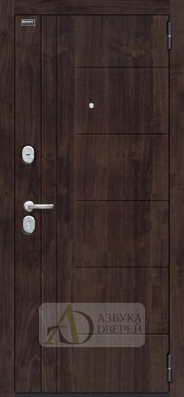 Стальная дверь Оптим Модерн П-28 Темная Вишня/Cappuccino Veralinga