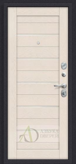 Стальная дверь Оптим Сканди П-37 Graphite Wood/Cappuccino Softwood