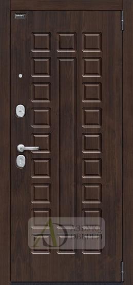 Стальная дверь Оптим Урбан П-28 Темная Вишня/Bianco Veralinga